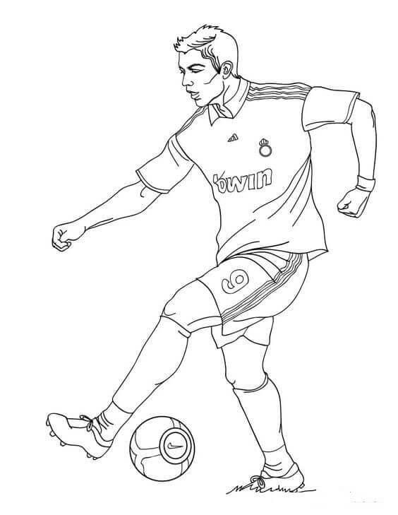 Cristiano Ronaldo Fifa World Cup Coloring Page