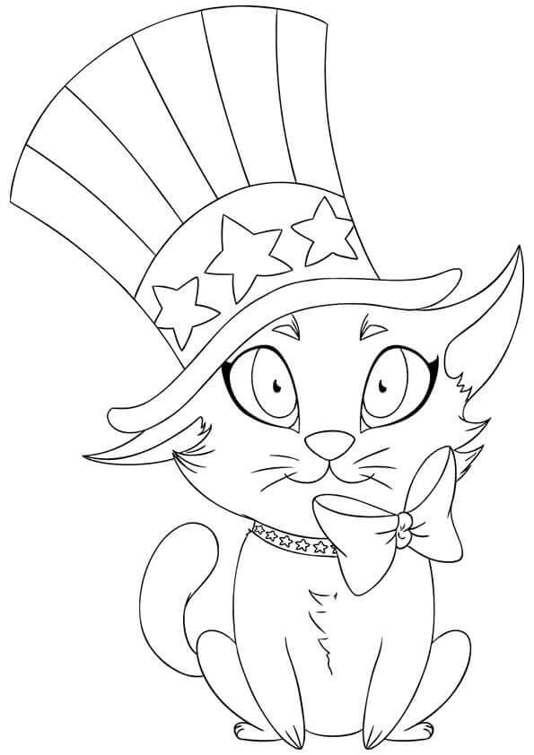 Cute 4th of July Coloring Pages