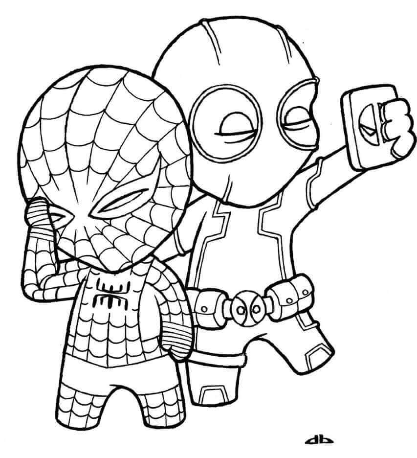 Cute Deadpool Coloring Pages