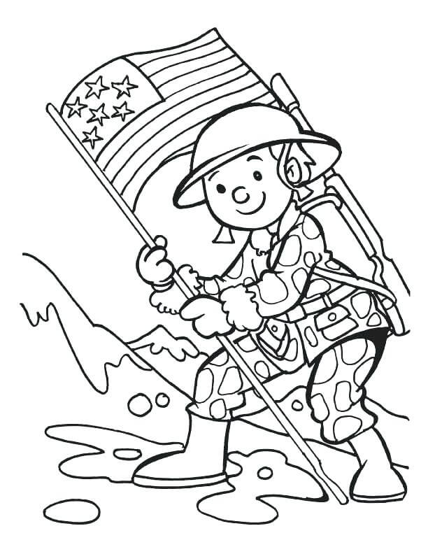Cute Memorial Day Coloring Pages Printable