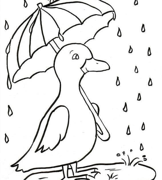 Cute Rainy Season Coloring Pages