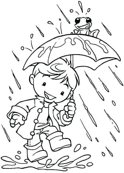Cute Rainy Weather Coloring Pages