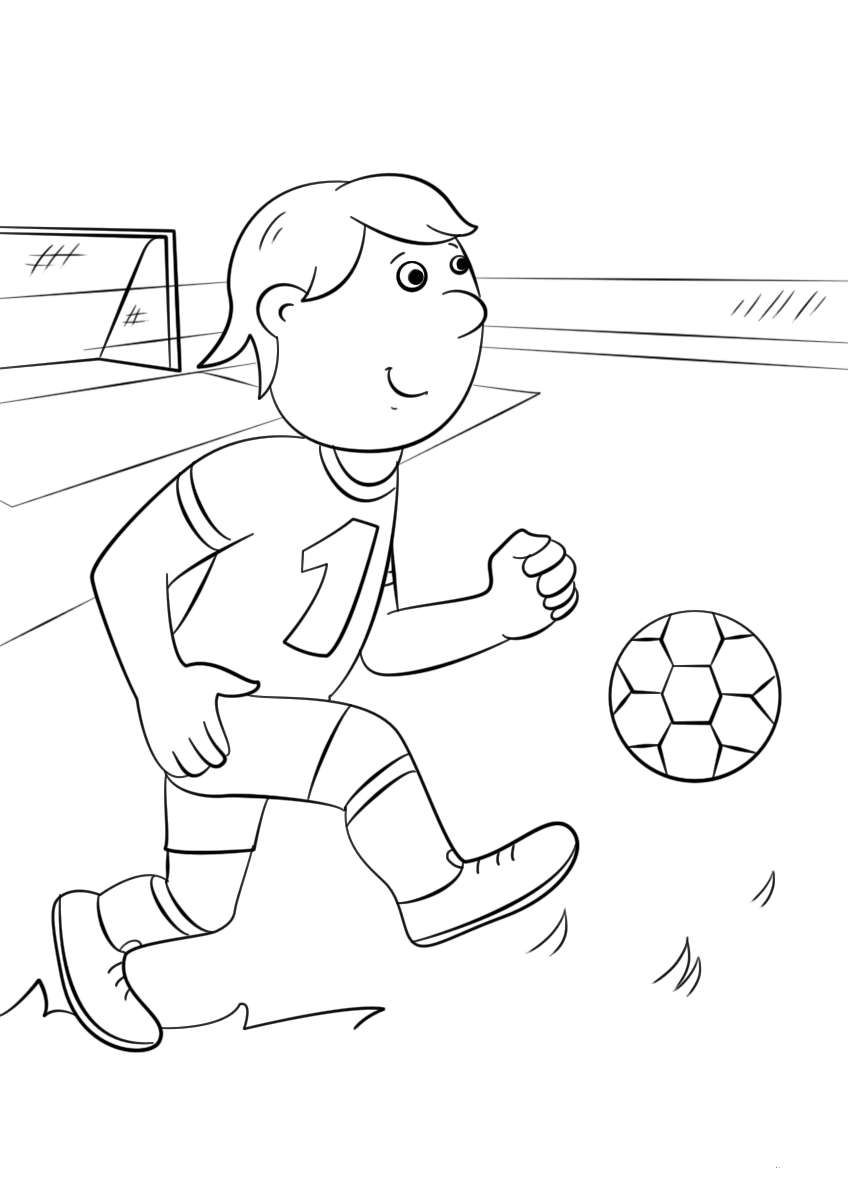 Cute Soccer Coloring Pictures