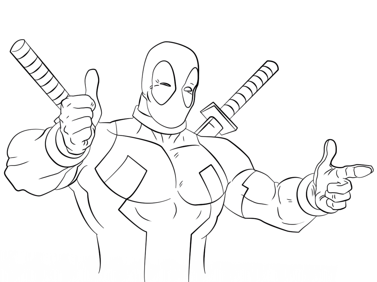 Deadpool 2 Coloring Pictures