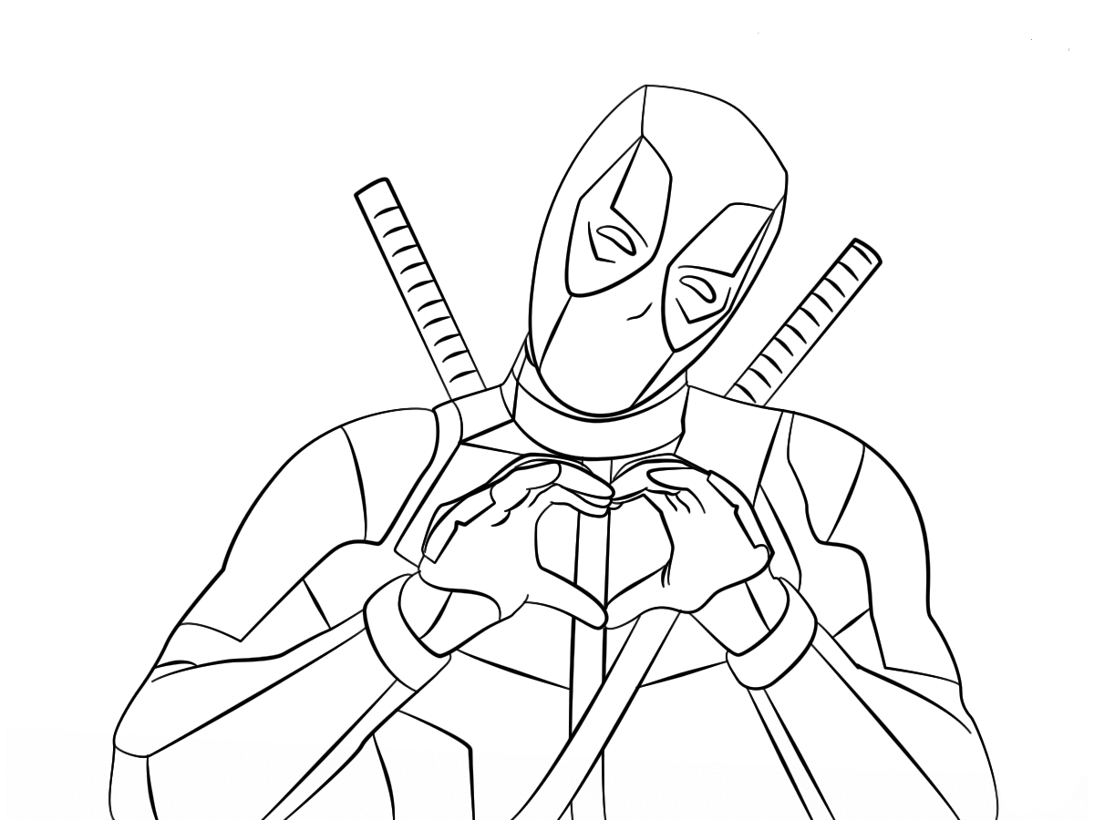 Deadpool 2 Coloring Sheets To Print