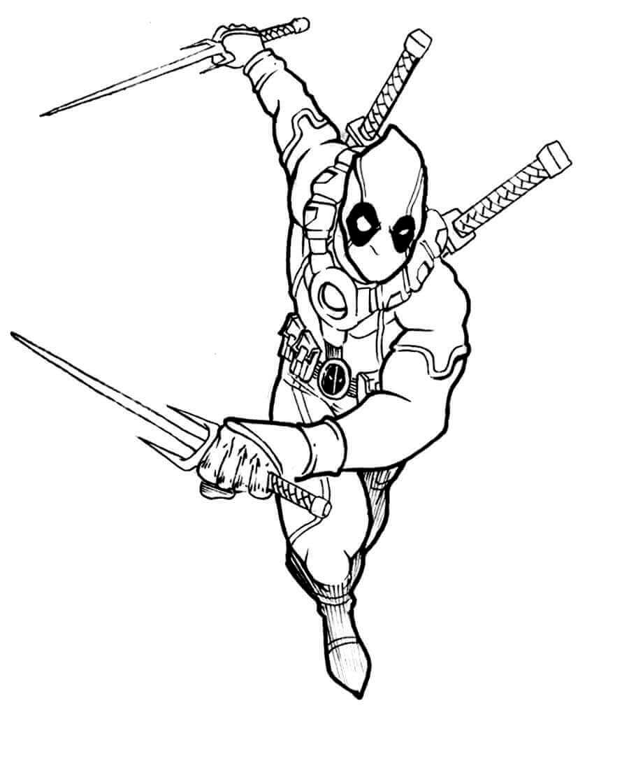 Deadpool Coloring Images