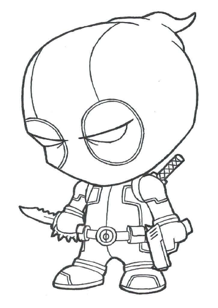 Deadpool Coloring Pages For Toddlers
