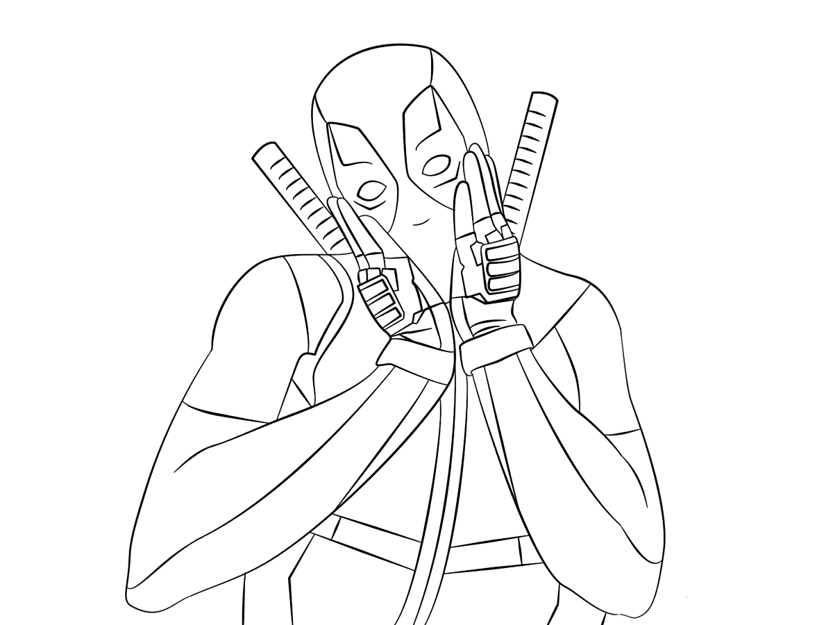 Get This Printable Deadpool Coloring Pages Online 781016: Free Coloring Pages