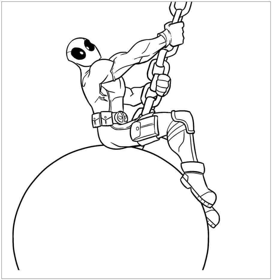 Deadpool Coloring Pictures To Print