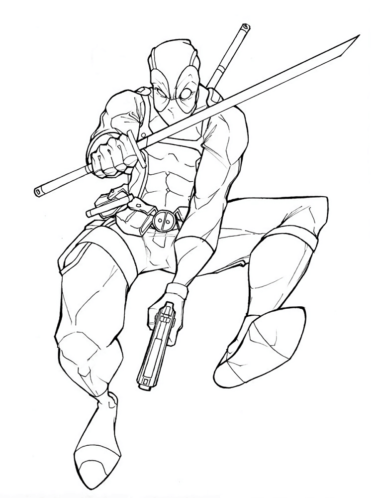 Deadpool Coloring Sheets To Print