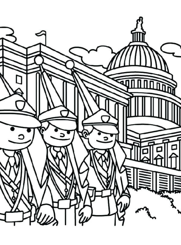Easy Memorial Day Coloring Pages