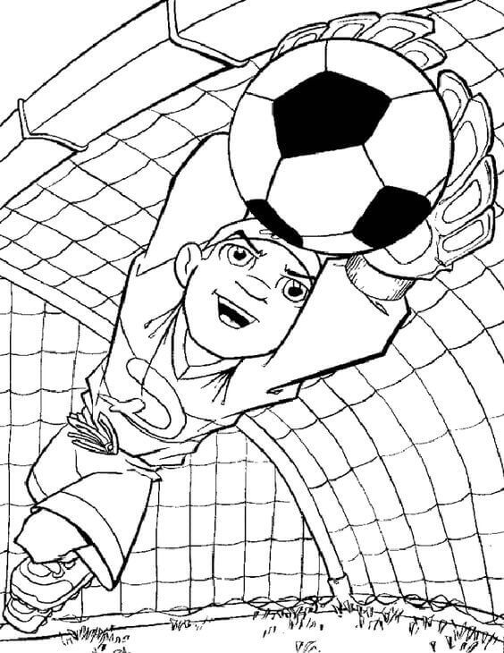 English Football Goalkeeper Coloring Pages