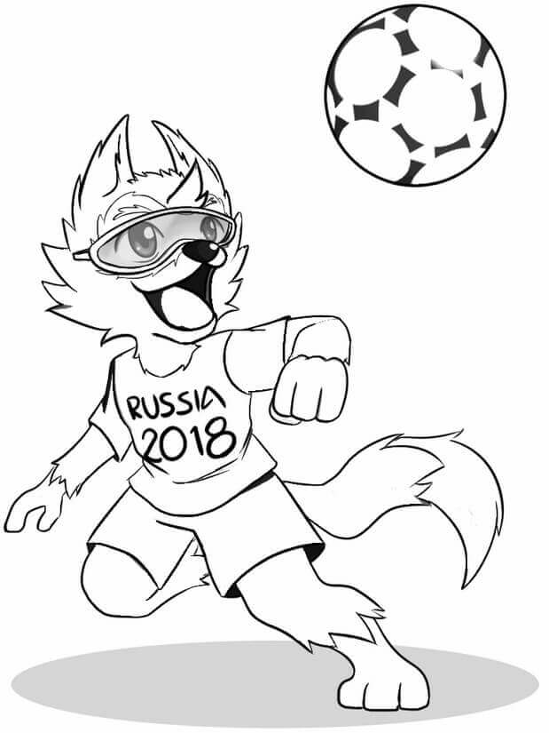 FIFA World Cup 2018 Coloring Sheet