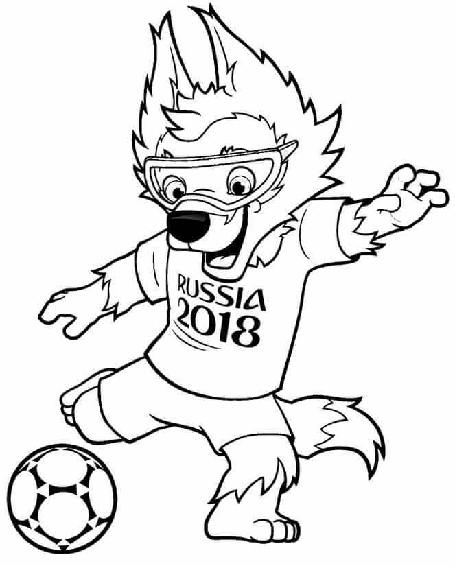 FIFA World Cup 2018 Mascot Zabivaka Coloring Page