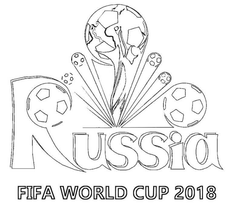 Fifa World Cup Russia 2018 Coloring Page