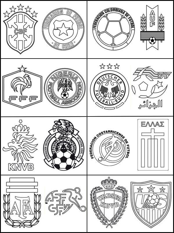 Fifa World Cup Teams Coloring Page