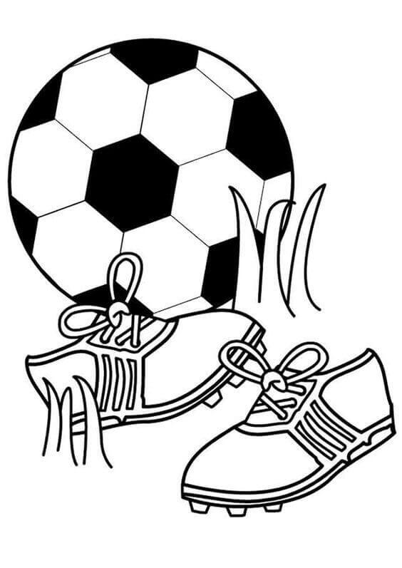 Football Essentials Coloring Pages