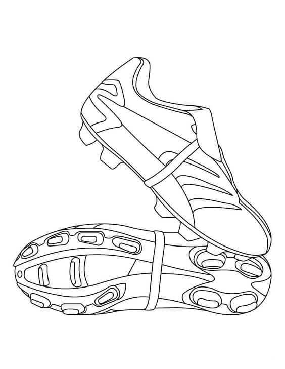 Football Shoes Coloring Page