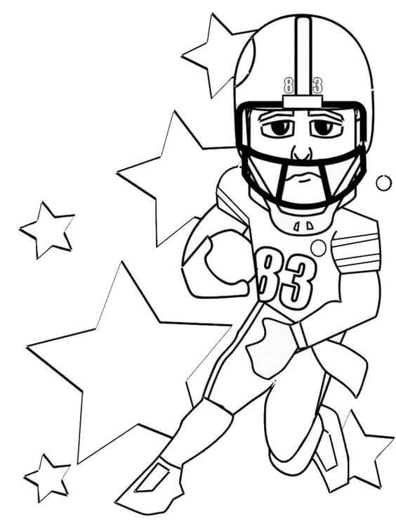 Footballer Coloring Pages
