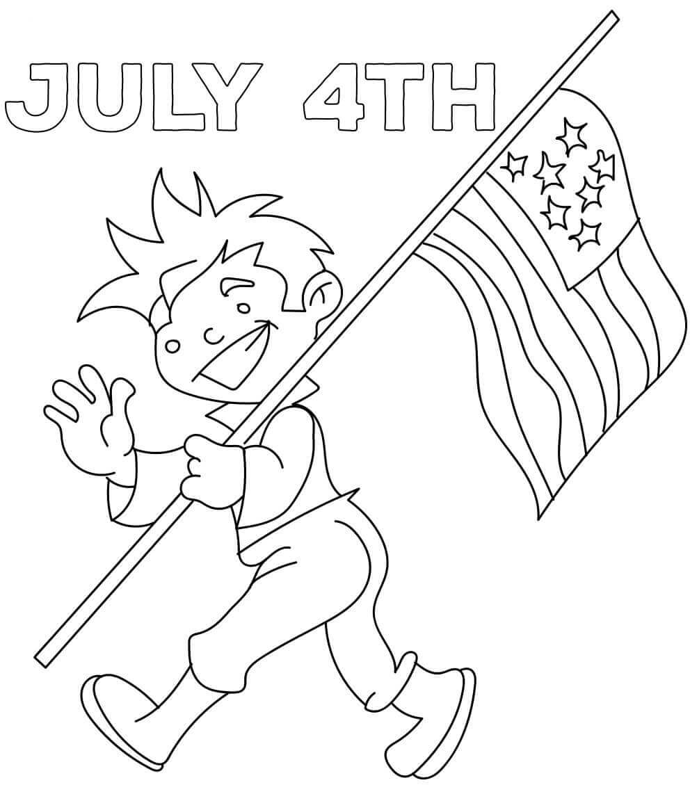 Fourth of July Parade Coloring Pages