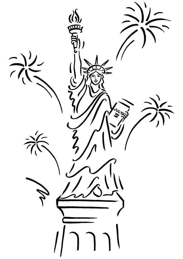 Free American Independence Day Coloring Pages