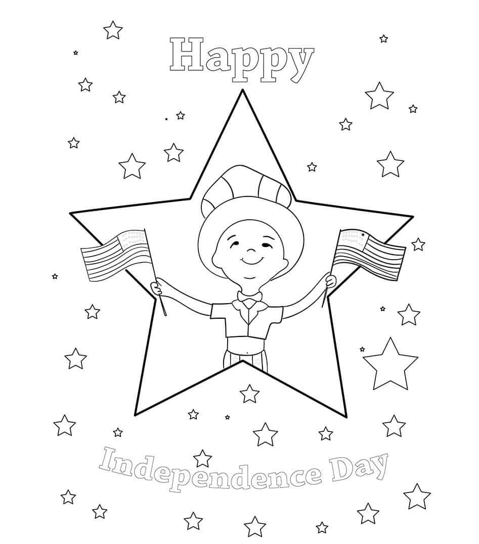 Free Independence Day Coloring Pages To Print