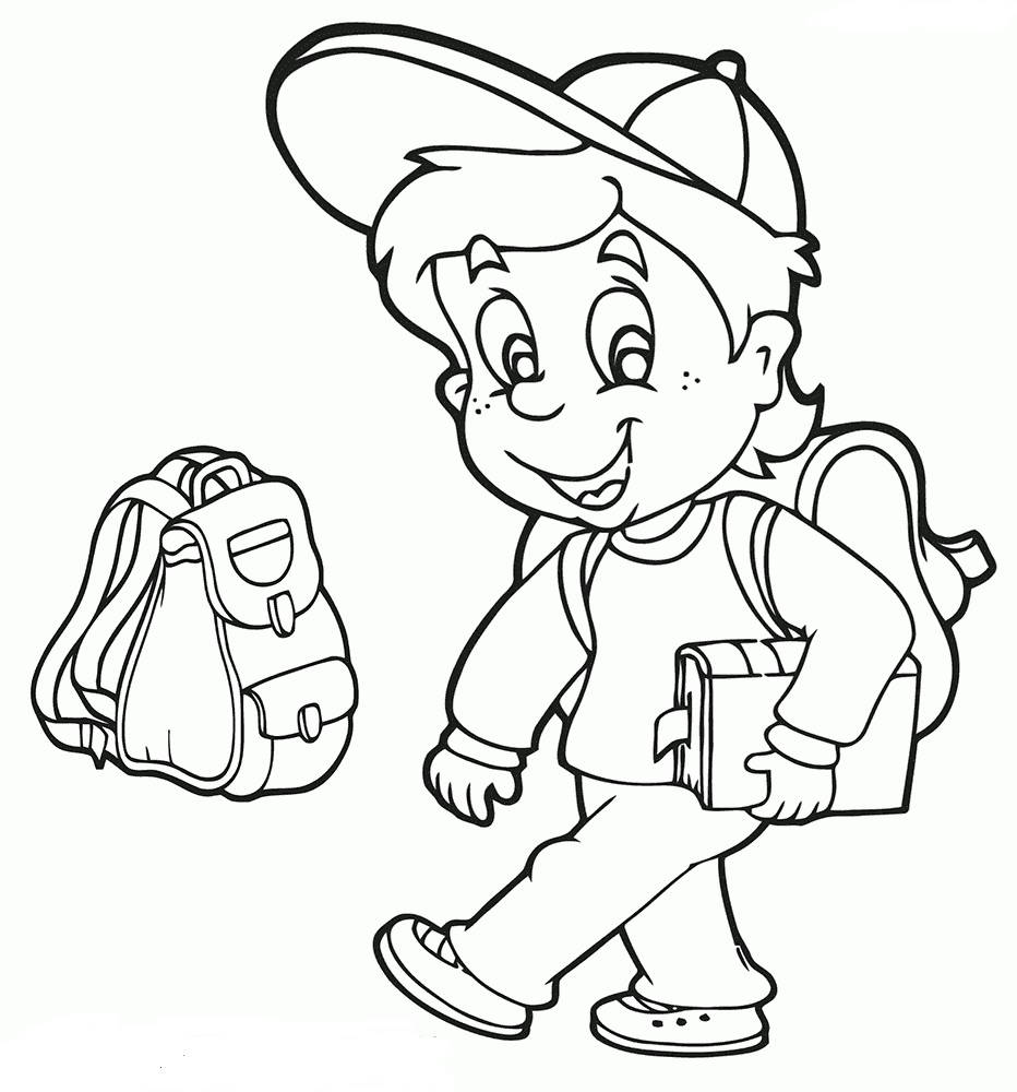 School Bag Coloring Pages | Coloring Pages To Download And Print pertaining to School Boy Coloring Page