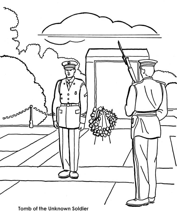 Free Memorial Day Coloring Sheets