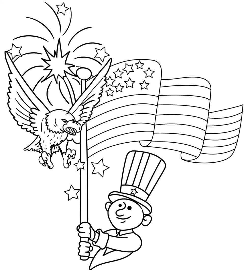 4th of july coloring pages free printable 4th of july coloring pages independence 5824