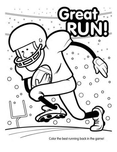 Free Printable American Football Coloring Pages
