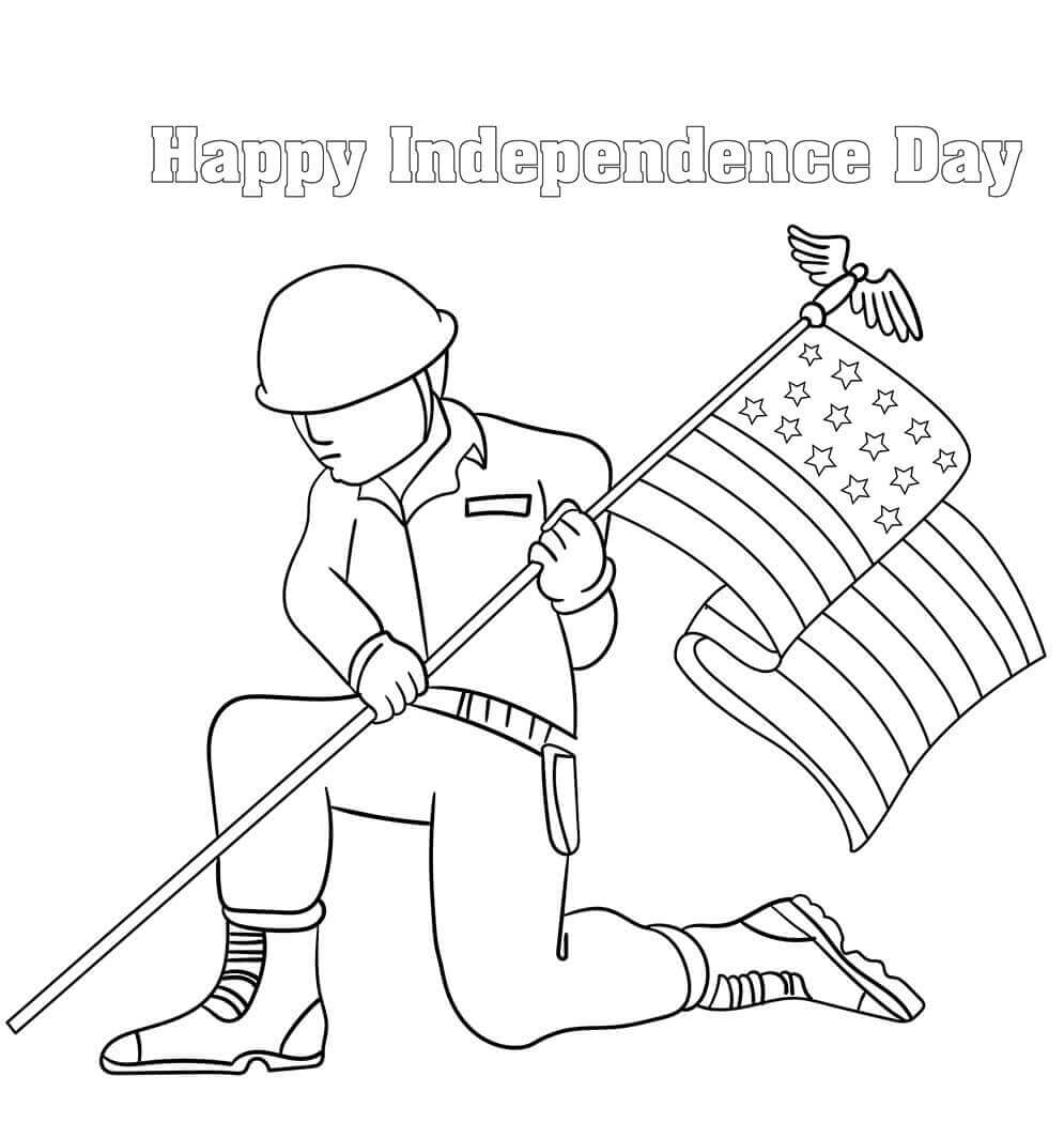 Free Printable Happy Independence Day Coloring Pages