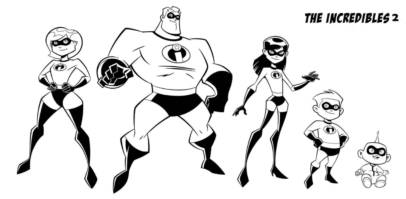Free Printable Incredibles 2 Coloring Pages