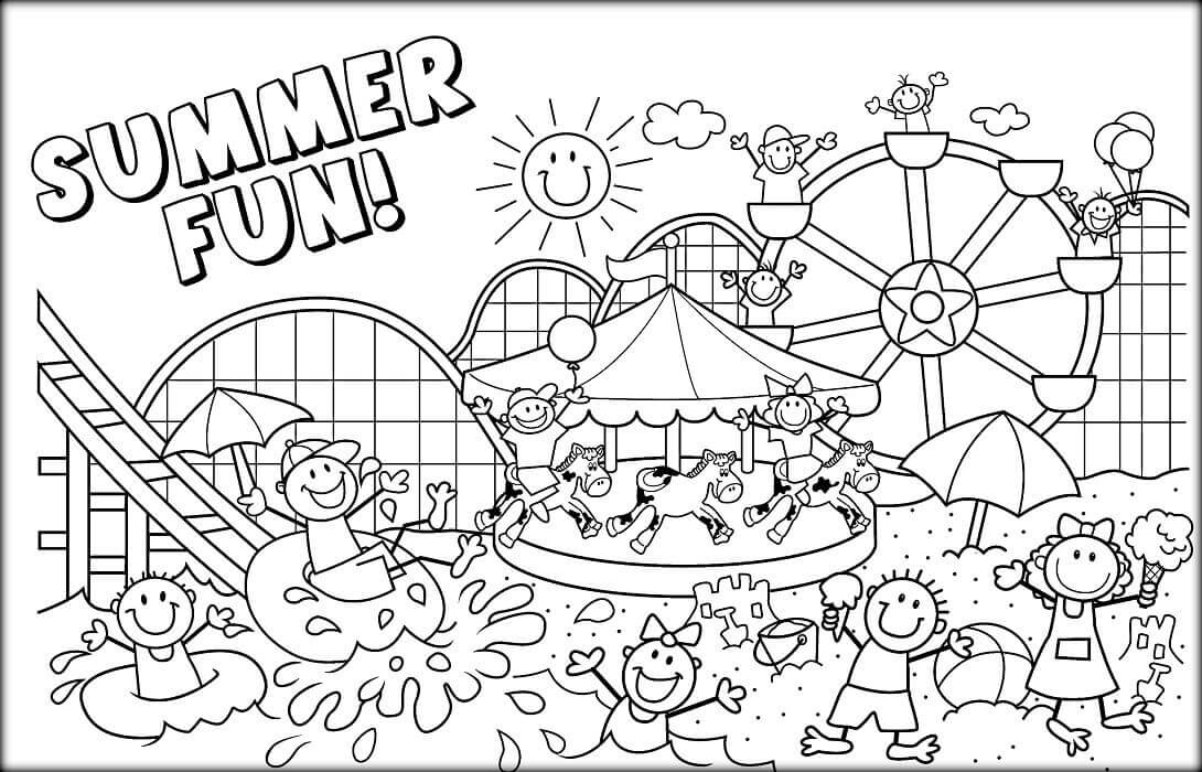 Free Printable June Coloring Pages