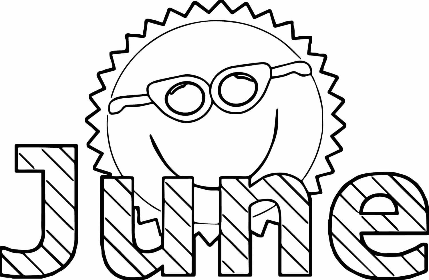 Free Printable June Coloring Sheets