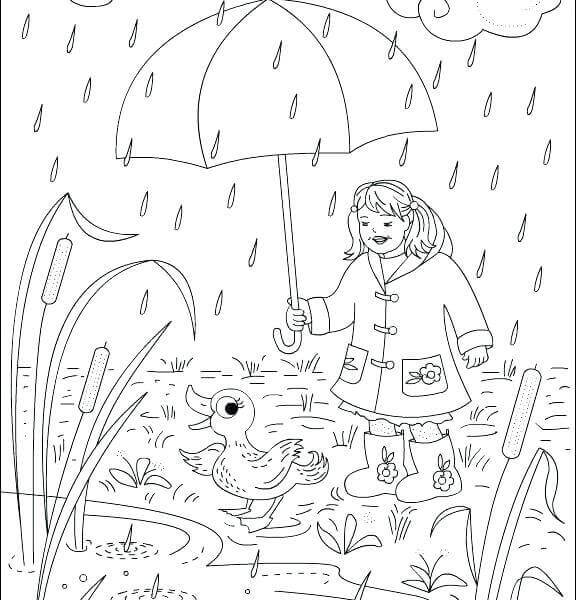 Free Printable Rain Coloring Pages