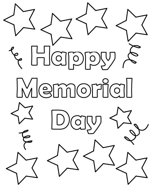 Day coloring pages to print ~ 25 Free Printable Memorial Day Coloring Pages