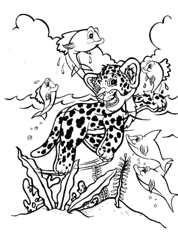 Hunter Lisa Frank Coloring Page