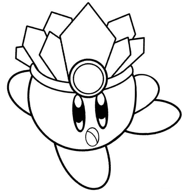 Ice Kirby Coloring Pages Free