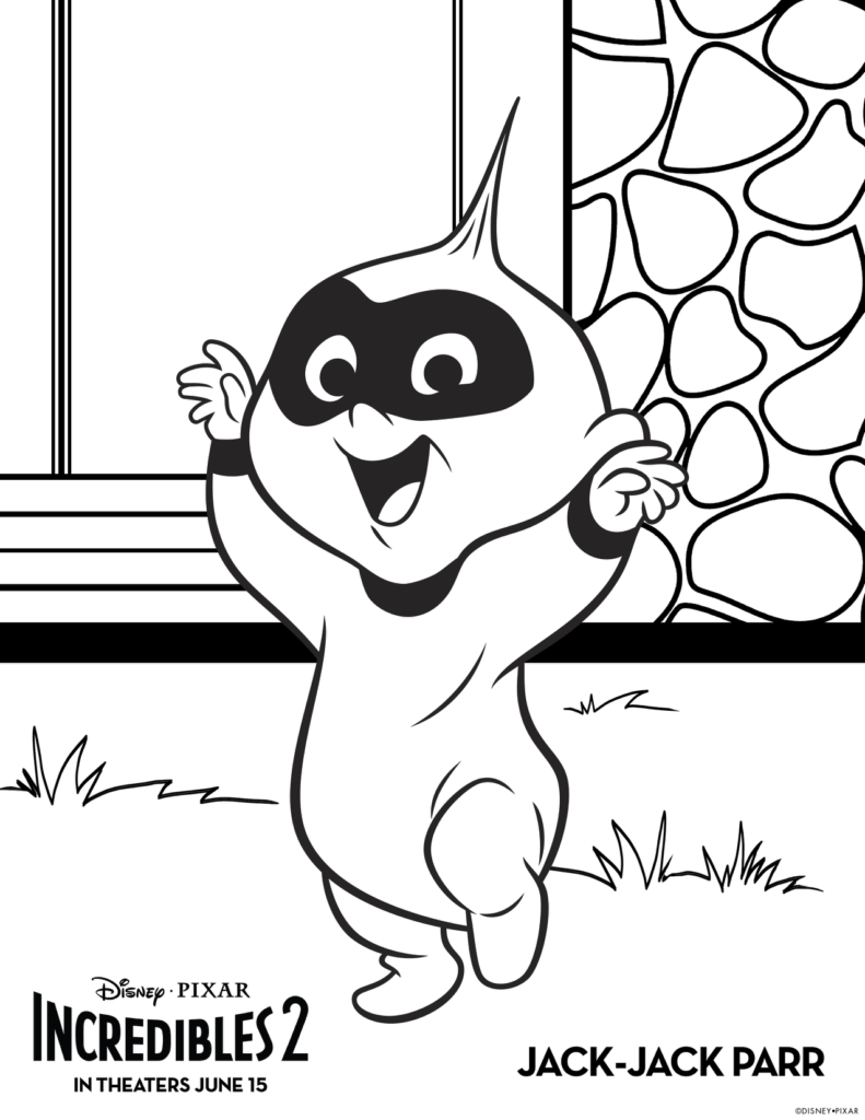 Jack Jack Incredibles 2 Coloring Pages