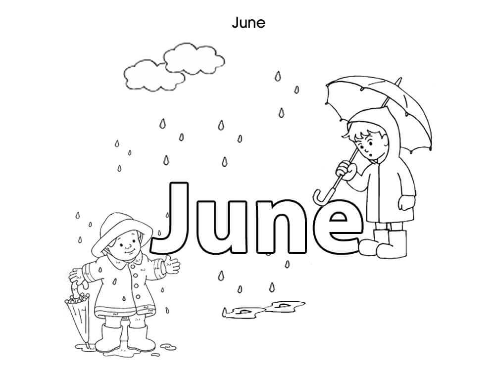 June Month Coloring Pages
