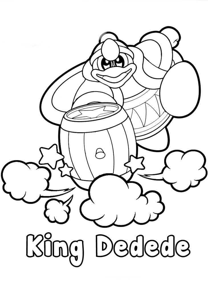 Kirby King Dedede Coloring Page