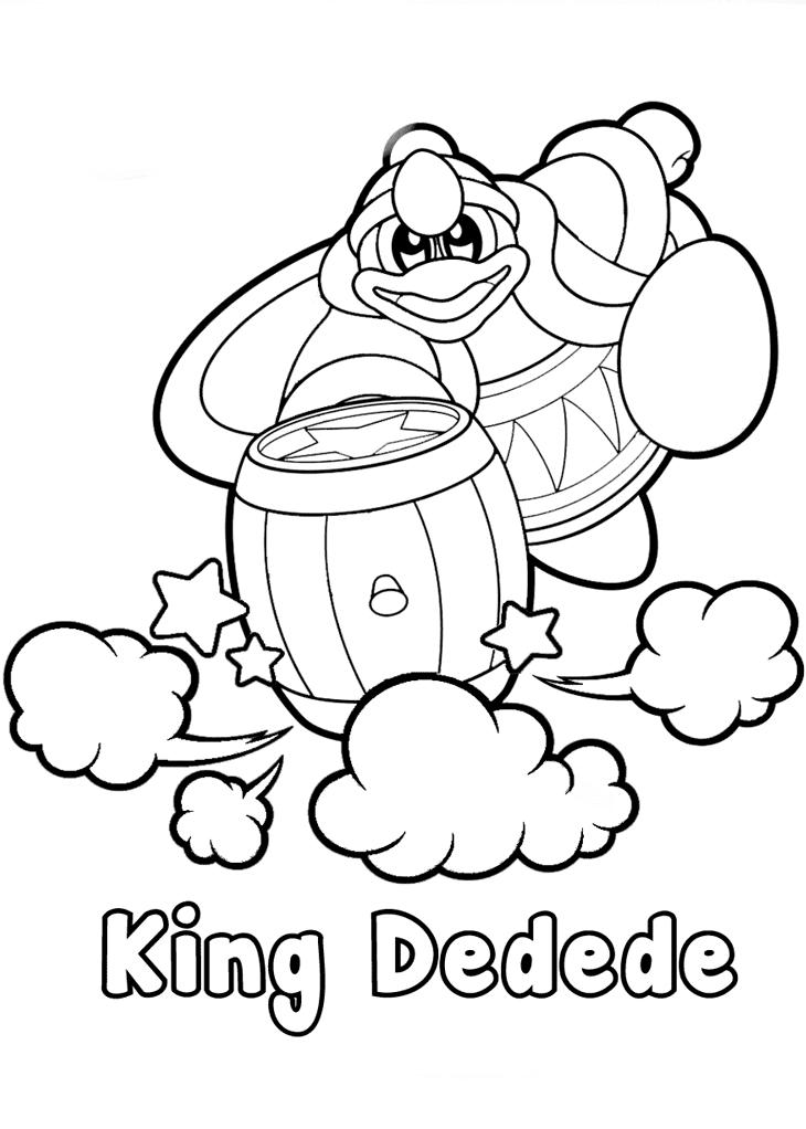 Kirby King Dedede Coloring Page