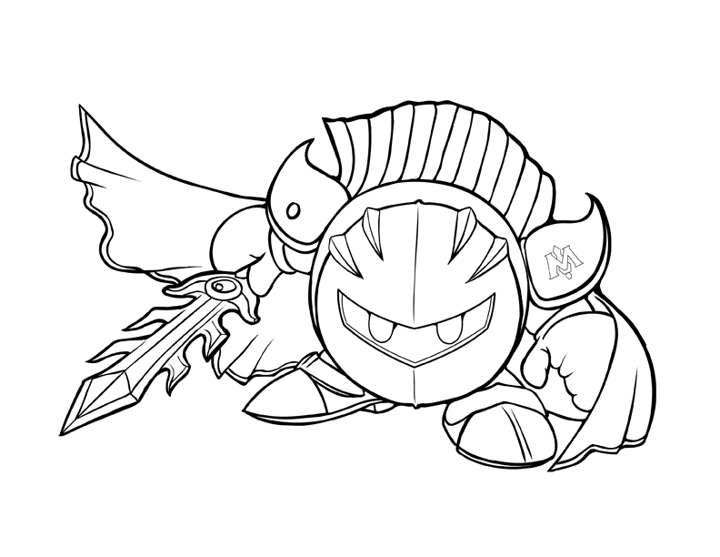 Kirby Meta Knight Coloring Pages