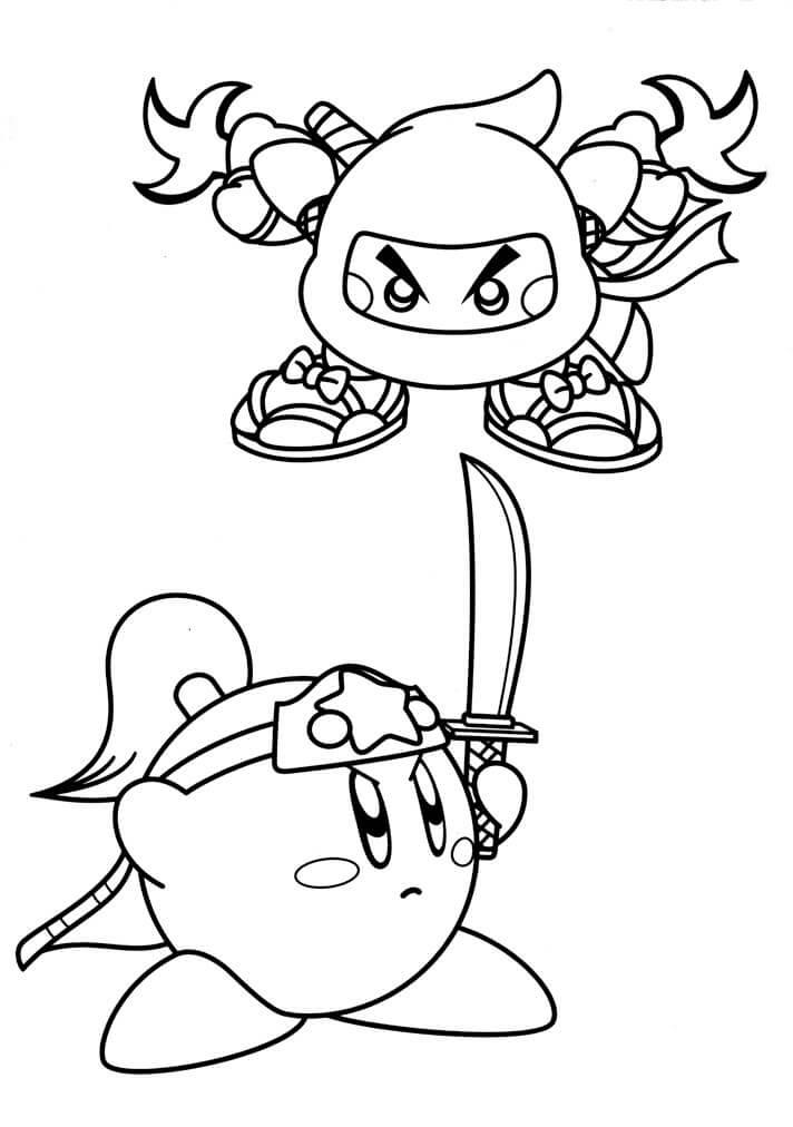 Kirby Right Back at Ya Coloring Image
