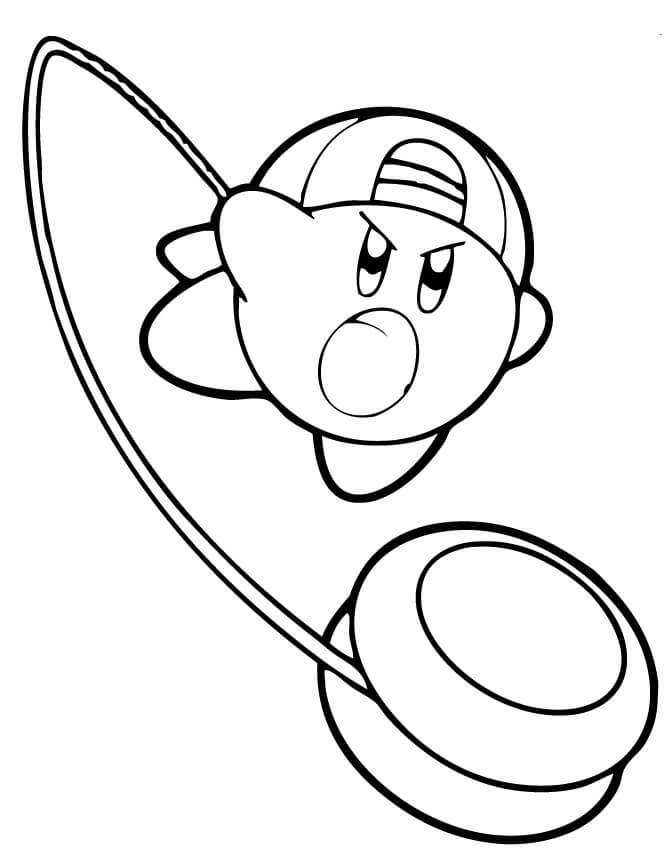 Kirby YoYo Coloring Page