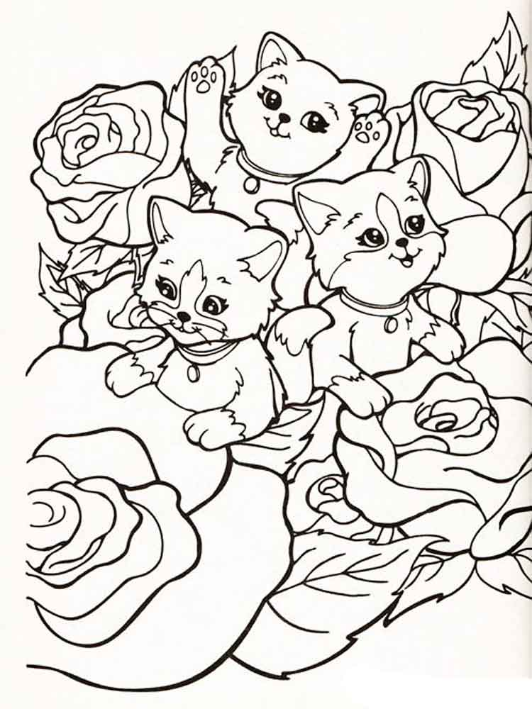 Kittens From Lisa Frank Coloring Sheets