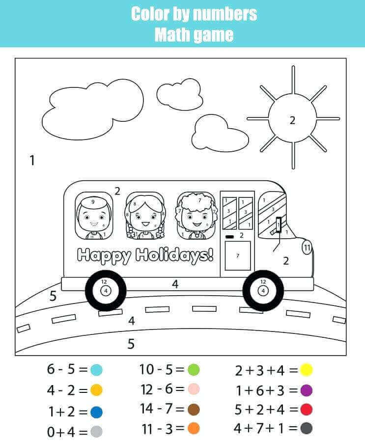 Last Day Of School Color By Number Worksheet