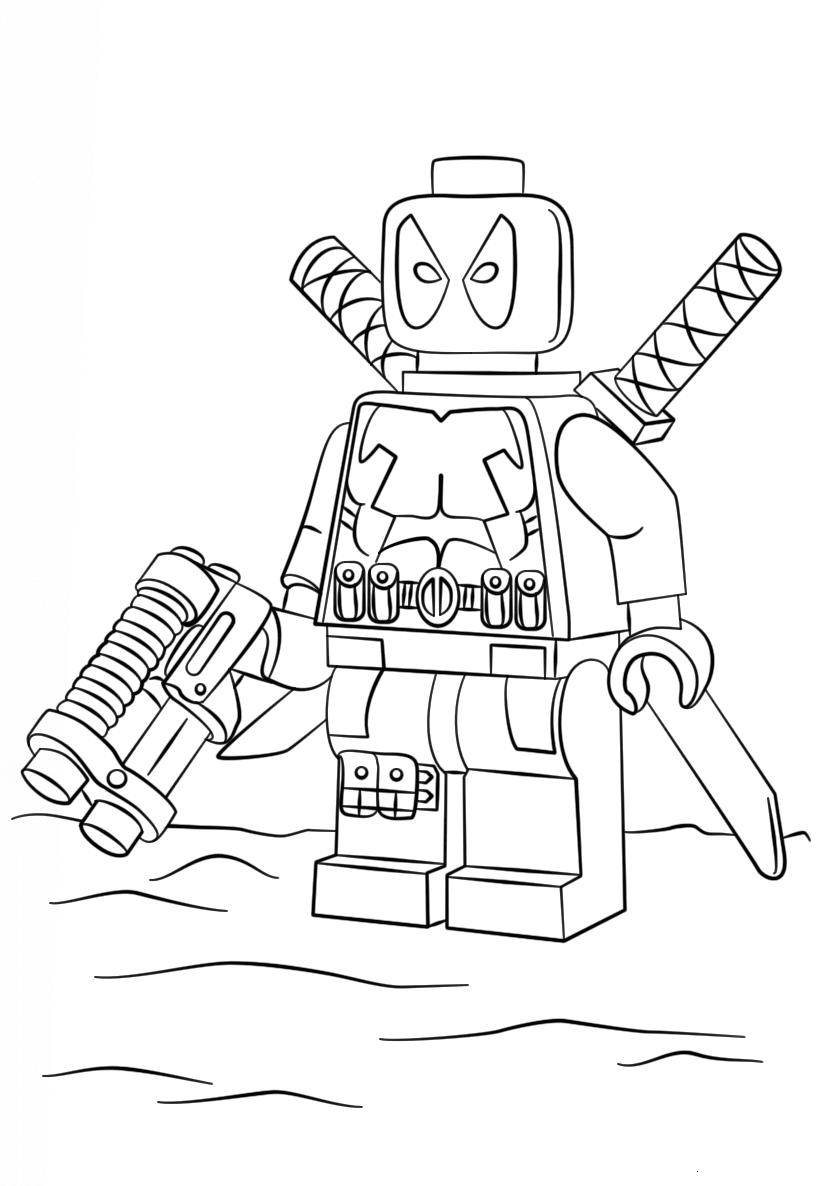 Lego Deadpool Coloring Pages