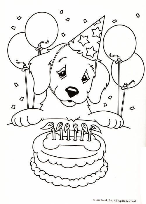 Lisa Frank Casey Coloring Page
