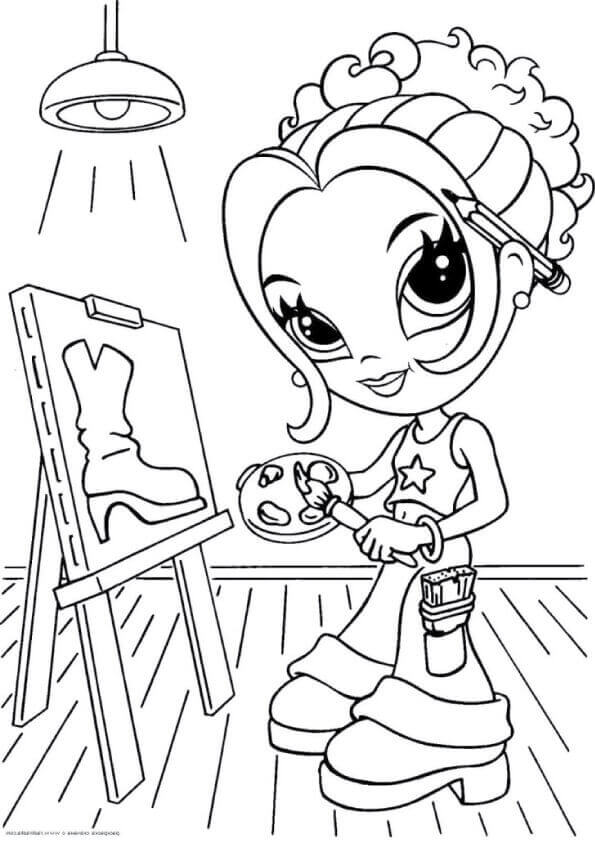 It is a picture of Ambitious Lisa Frank Coloring Book